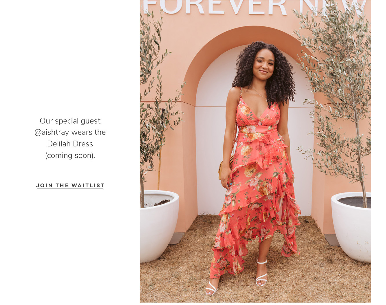 Our special guest @aishtray wears the Delilah Dress (coming soon). JOIN THE WAITLIST