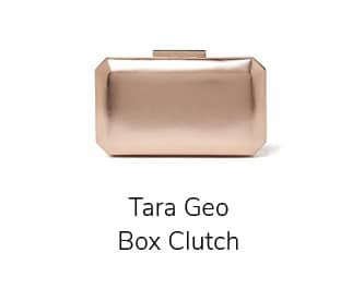 Tara Geo Box Clutch
