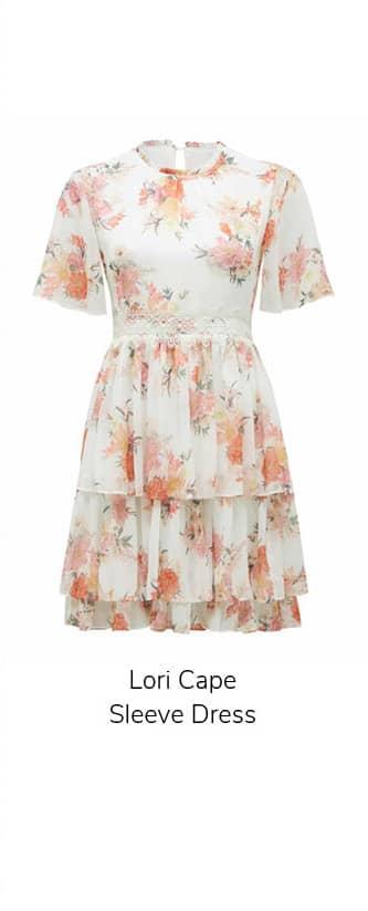 Lori Cape Sleeve Dress