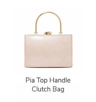 Pia Top Handle Clutch Bag