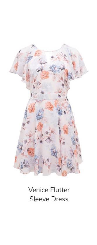 Venice Flutter Sleeve Dress