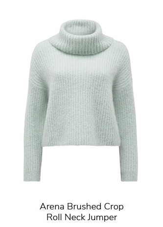Arena Brushed Crop Roll Neck Jumper