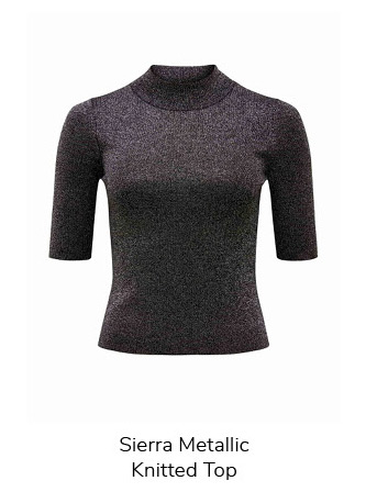 Sierra Metallic Knitted Top